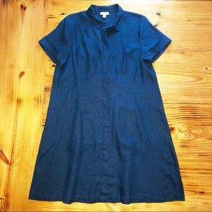 J Jill Love Linen navy shirt dress